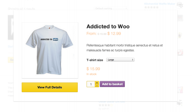 How to make quick view popup in woocommerce