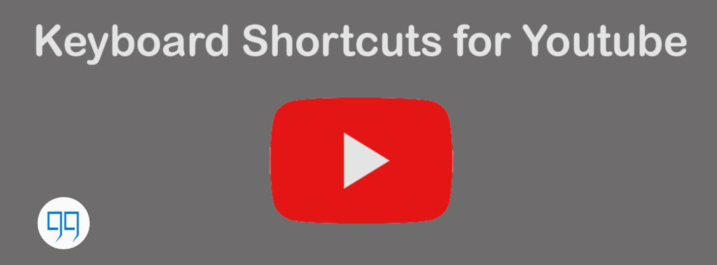 keyboard shortcuts for youtube